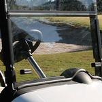 EZGO WINDSCREEN, SPLIT (Fold Down) - Clear Acrylic for RXV W/TRIM
